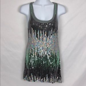*WORN ONCE* Sequined Tunic Tank